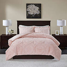Madison Park Arya Medallion 3-Piece King/California King Ultra Plush Comforter Set in Blush