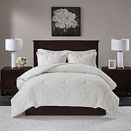 Madison Park Arya Medallion 3-Piece Full/Queen Ultra Plush Comforter Set in Ivory