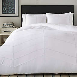 City Scene Courtney 3-Piece King Comforter Set in White