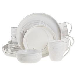 Artisanal Kitchen Supply® Marbleized 16-Piece Dinnerware Set in Grey