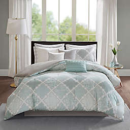 Madison Park Cadence Queen Comforter Set in Aqua