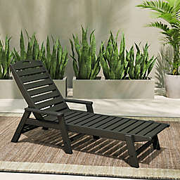 POLYWOOD® Nautical Stackable Chaise with Arms