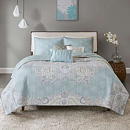 Madison Park Lucinda Reversible King/California King Coverlet Set in Blue
