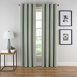 Boratta Geo Grommet Top Window Curtain Panel