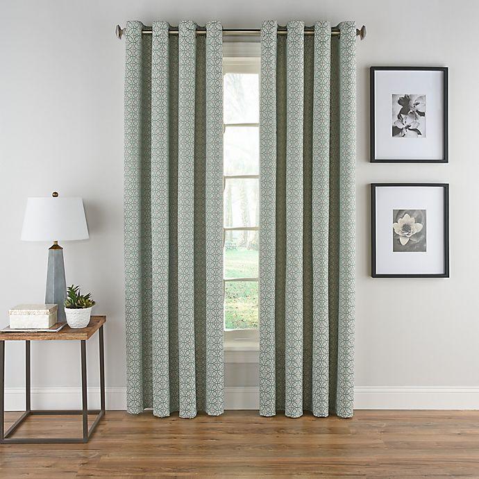 Alternate image 1 for Boratta Geo Grommet Top Window Curtain Panel