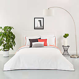 Lacoste Gorbio Full/Queen Duvet Set in White