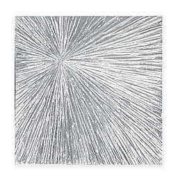 Madison Park Sunburst Palm 30-Inch Round Box Wall Art in Silver
