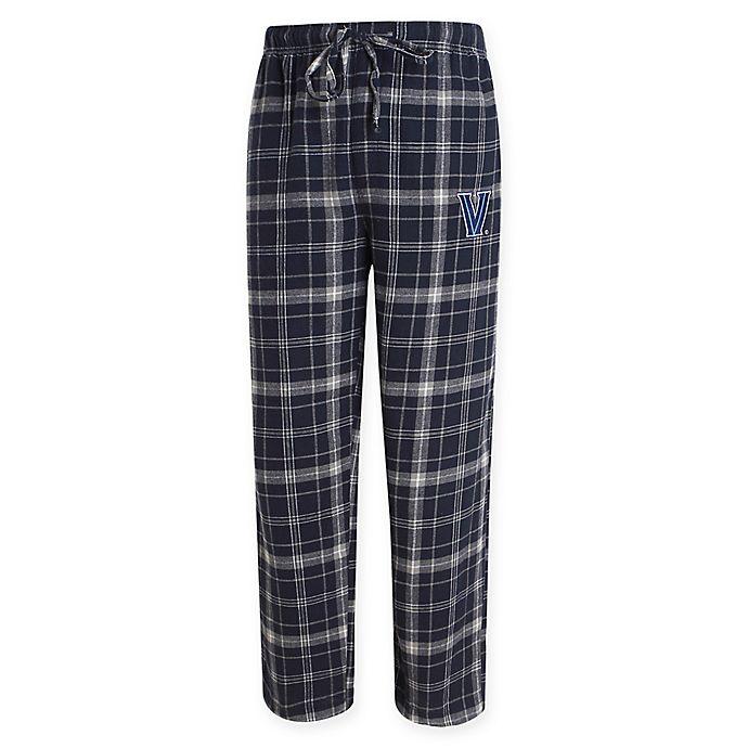 Alternate image 1 for Villanova University Men's Flannel Plaid Pajama Pant with Left Leg Team Logo
