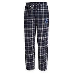 Villanova University Men's Small Flannel Plaid Pajama Pant with Left Leg Team Logo