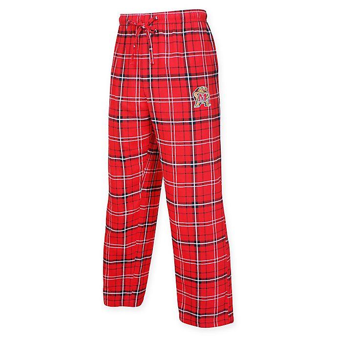 Alternate image 1 for University of Maryland Men's Flannel Plaid Pajama Pant with Left Leg Team Logo