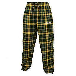 University of Oregon Men's Flannel Plaid Pajama Pant with Left Leg Team Logo