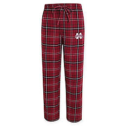Mississippi State University Men's Small Flannel Plaid Pajama Pant with Left Leg Team Logo