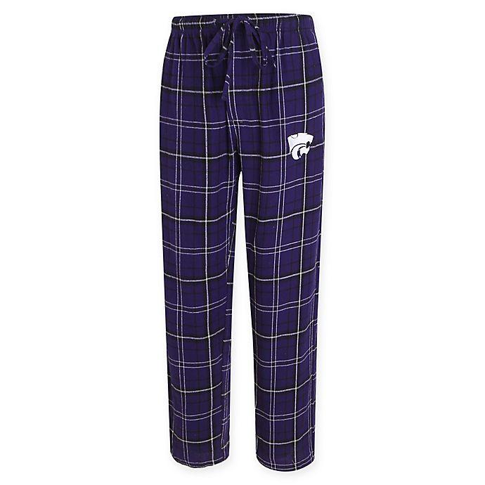 Alternate image 1 for Kansas State University Men's Flannel Plaid Pajama Pant with Left Leg Team Logo