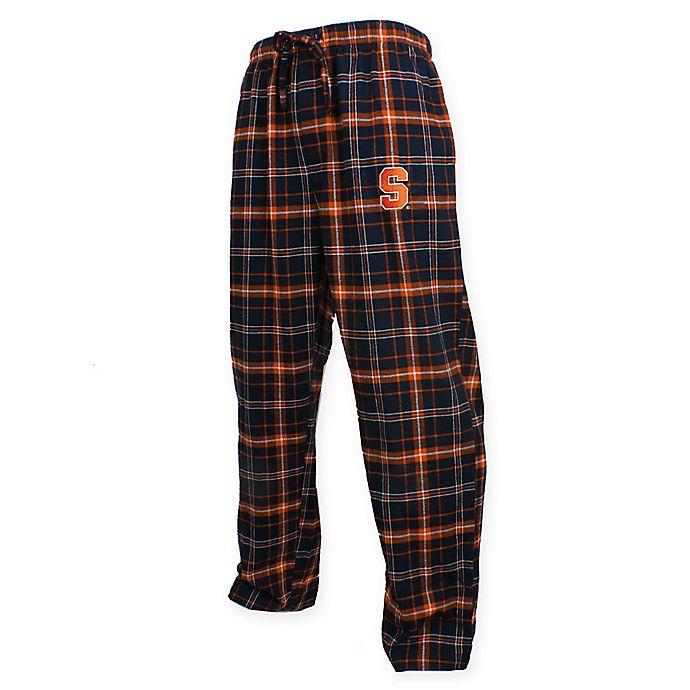 Alternate image 1 for Syracuse University Men's Flannel Plaid Pajama Pant with Left Leg Team Logo