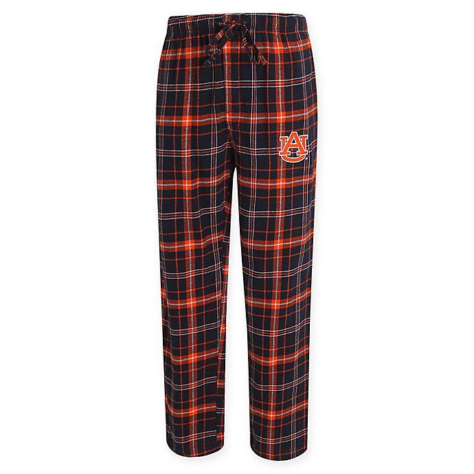 Alternate image 1 for Auburn University Men's Flannel Plaid Pajama Pant with Left Leg Team Logo