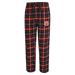 Auburn University Men's Flannel Plaid Pajama Pant with Left Leg Team Logo