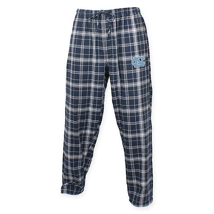Alternate image 1 for University of North Carolina Men's 2XL Flannel Plaid Pajama Pant with Left Leg Team Logo