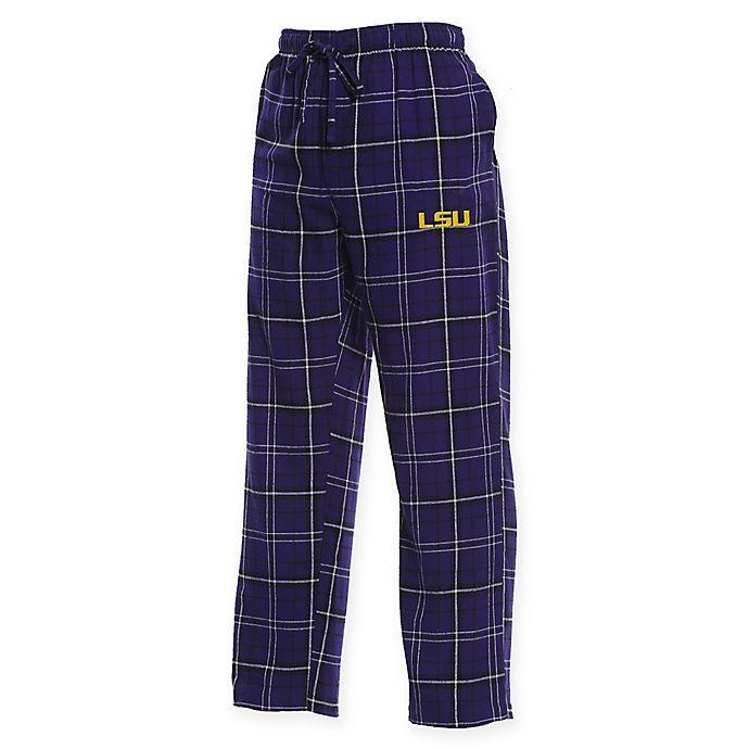Alternate image 1 for Louisiana State University Men's Small Flannel Plaid Pajama Pant with Left Leg Team Logo