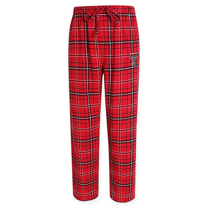 Alternate image 1 for Texas Tech University Men's Flannel Plaid Pajama Pant with Left Leg Team Logo