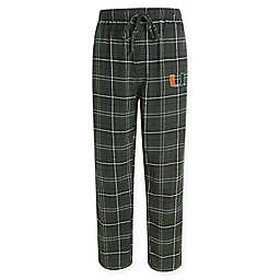 University of Miami Men's Small Flannel Plaid Pajama Pant with Left Leg Team Logo