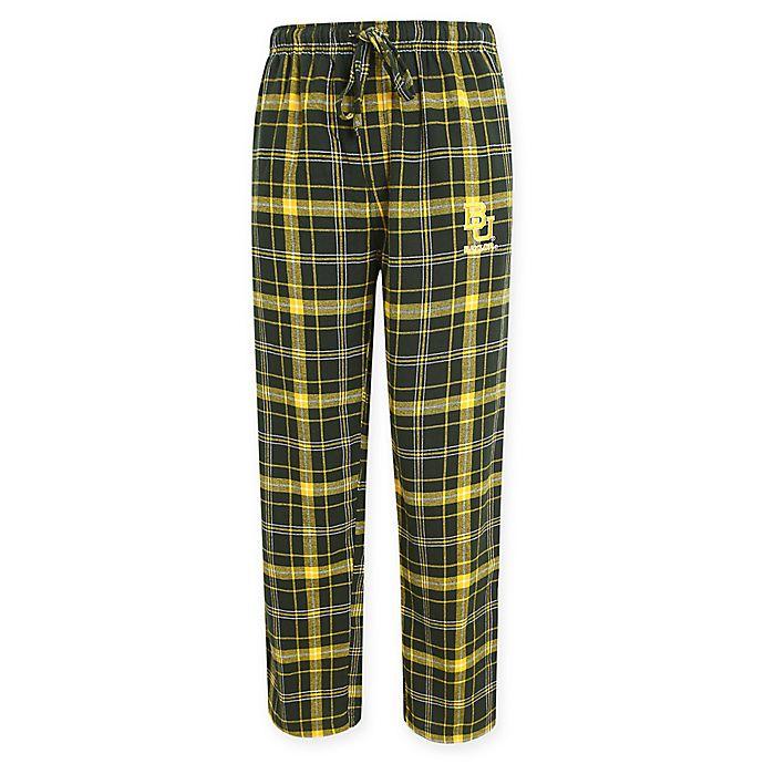 Alternate image 1 for Baylor University Men's Flannel Plaid Pajama Pant with Left Leg Team Logo