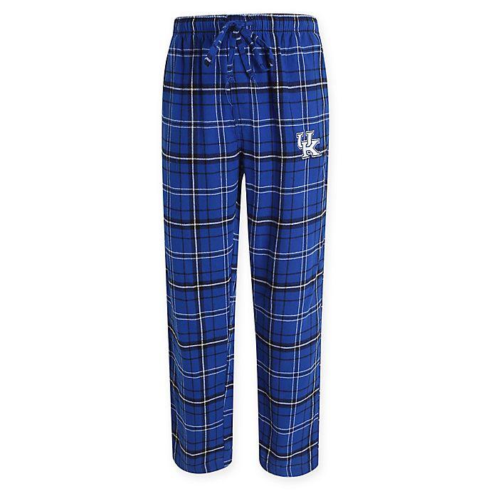 Alternate image 1 for University of Kentucky Men's Large Flannel Plaid Pajama Pant with Left Leg Team Logo