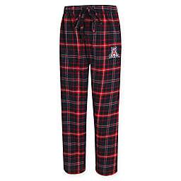 University of Arizona Men's Small Flannel Plaid Pajama Pant with Left Leg Team Logo