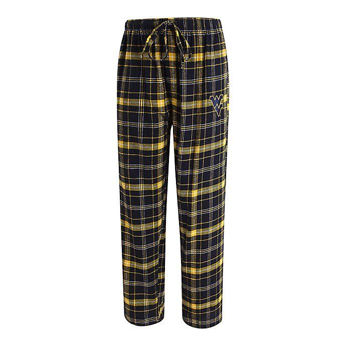 Alternate image 1 for West Virginia University Men's Flannel Plaid Pajama Pant with Left Leg Team Logo