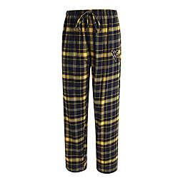 West Virginia University Men's Flannel Plaid Pajama Pant with Left Leg Team Logo