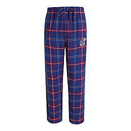 University of Kansas Men's Small Flannel Plaid Pajama Pant with Left Leg Team Logo