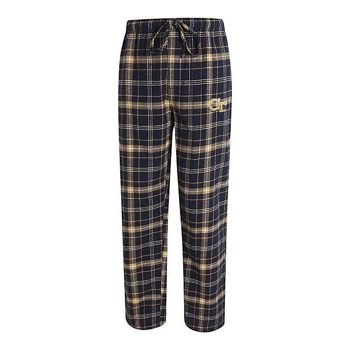 Alternate image 1 for Georgia Tech Men's Flannel Plaid Pajama Pant with Left Leg Team Logo