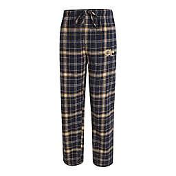 Georgia Tech Men's Flannel Plaid Pajama Pant with Left Leg Team Logo