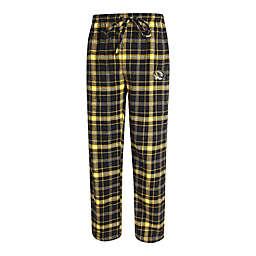 University of Missouri Men's Large Flannel Plaid Pajama Pant with Left Leg Team Logo
