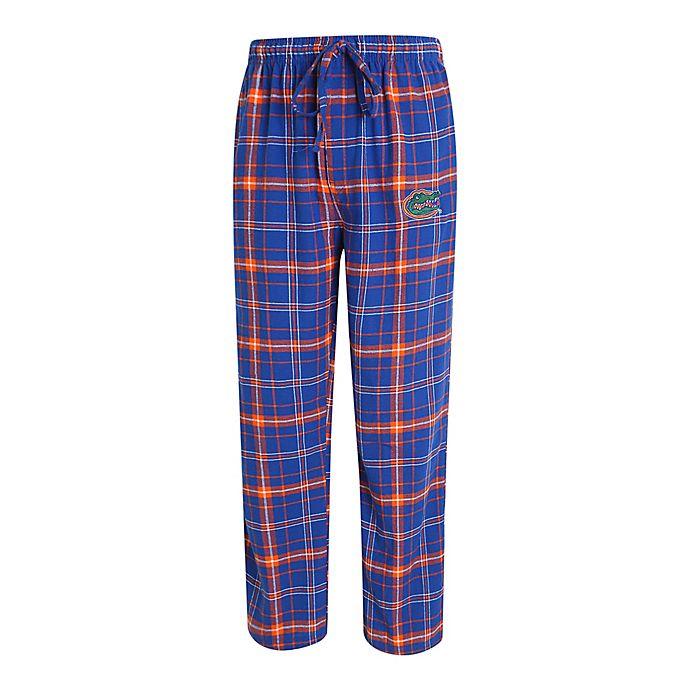 Alternate image 1 for University of Florida Men's Flannel Plaid Pajama Pant with Left Leg Team Logo