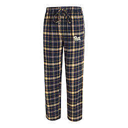 University of Pittsburgh Men's Flannel Plaid Pajama Pant with Left Leg Team Logo
