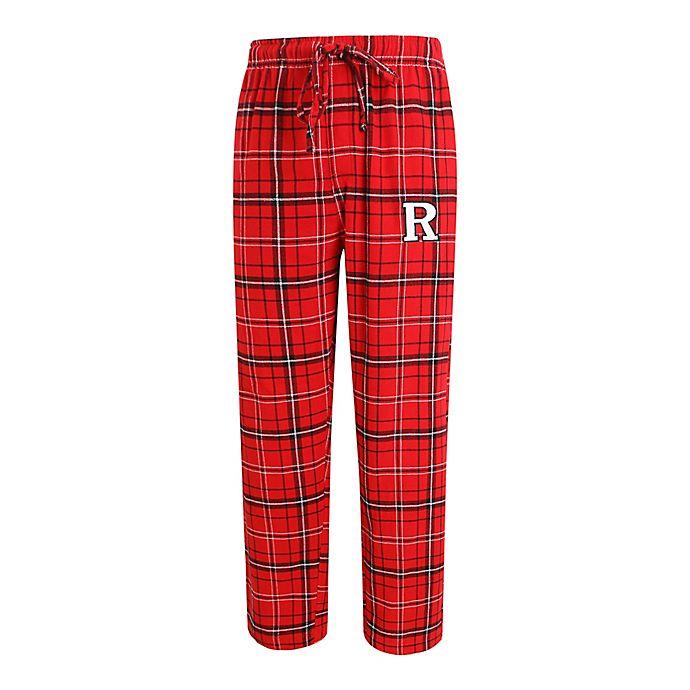Alternate image 1 for Rutgers University Men's Flannel Plaid Pajama Pant with Left Leg Team Logo