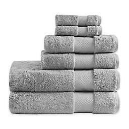 Madison Park Signature Turkish Cotton 6-Piece Bath Towel Set in Silver