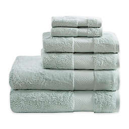 Madison Park Signature Turkish Cotton 6-Piece Bath Towel Set in Seafoam