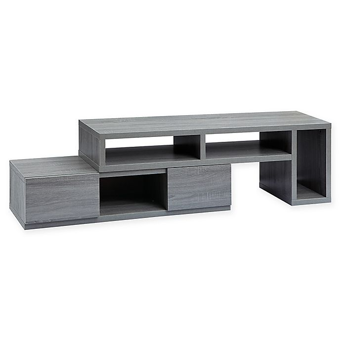 Alternate image 1 for Techni Mobili Adjustable TV Stand Console in Grey