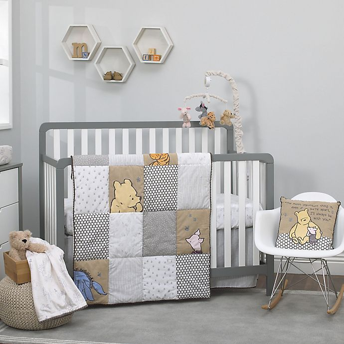 With Pooh Crib Bedding Collection, Pink Winnie The Pooh Baby Bedding