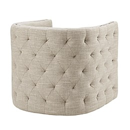 Madison Park Capstone Swivel Chair in Creme