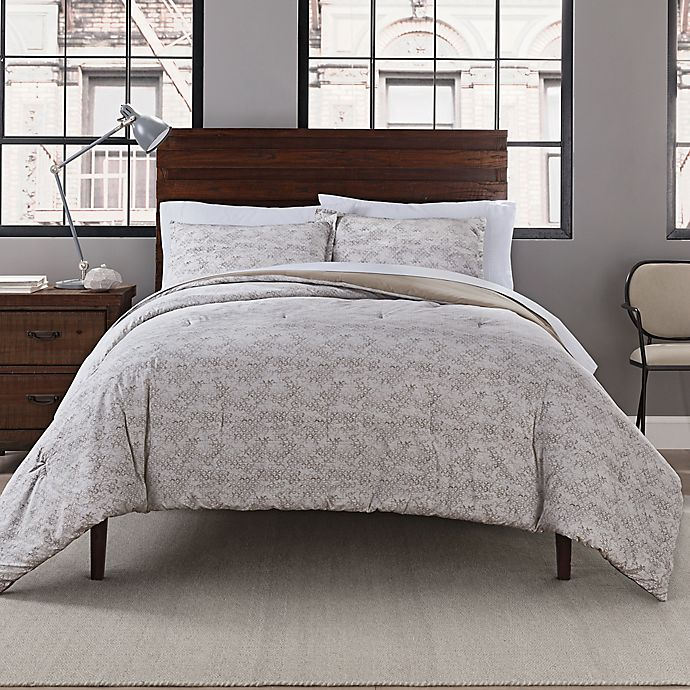 Alternate image 1 for Garment Washed 3-Piece Printed Comforter Set