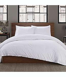 Set de funda para duvet matrimonial/queen de algodón Keeco lisa color blanco