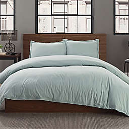 Garment Washed Solid 2-Piece Twin/Twin XL Duvet Cover Set in Seaglass