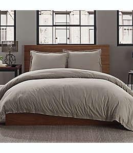 Set de funda para duvet king de algodón Keeco color gris niebla