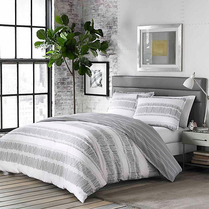 Alternate image 1 for City Scene® Ziggy 3-Piece King Comforter Set in White