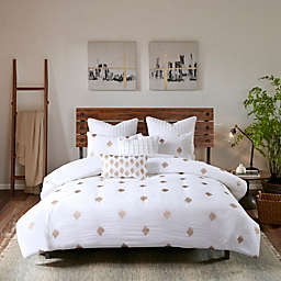 INK+IVY Ii Stella Dot Percale Weave Full/queen 3 Piece Duvet Cover Set in Copper