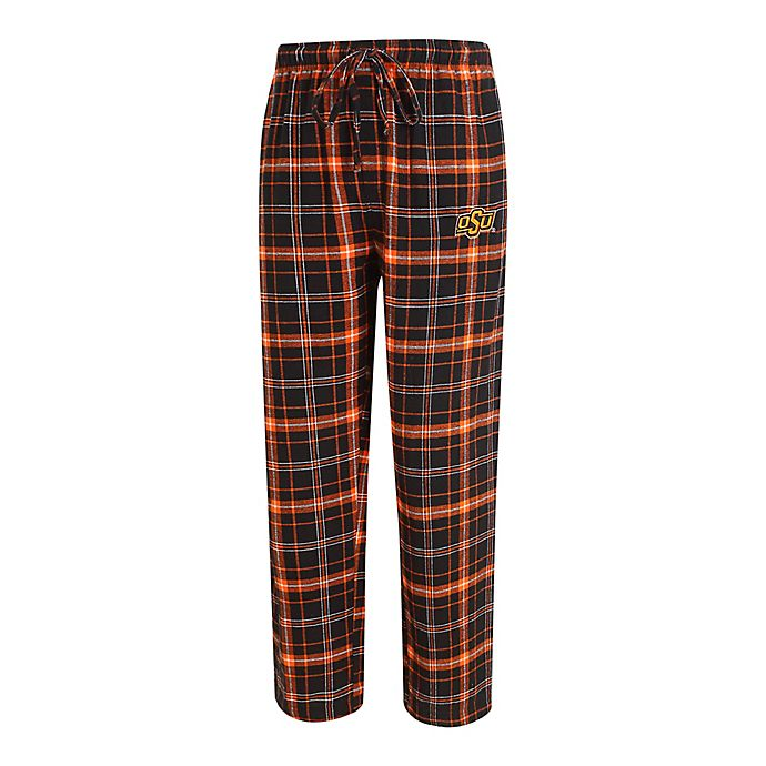 Alternate image 1 for Oklahoma State University Men's Flannel Plaid Pajama Pant with Left Leg Team Logo