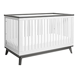 Babyletto Scoot 3-in-1 Convertible Crib in White/Slate