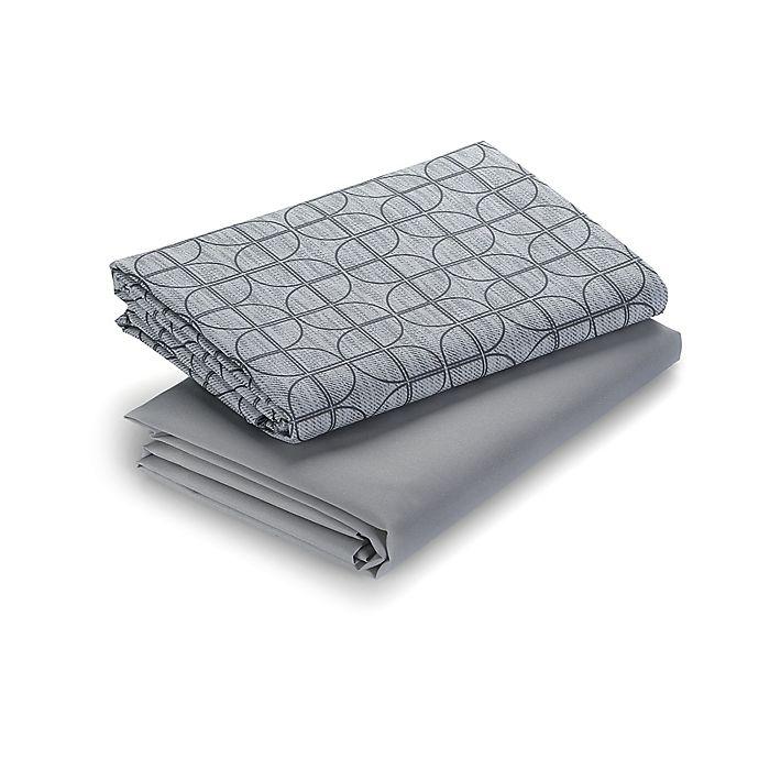 Alternate image 1 for Graco® Pack 'n Play® 2-Pack Myles Playard Sheets in Grey/Black